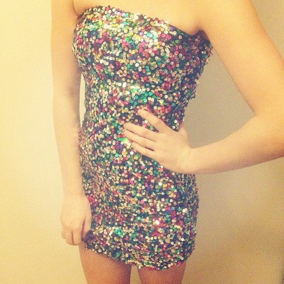 dress glitter dress pink glitter blue green party green dress sexy party dresses