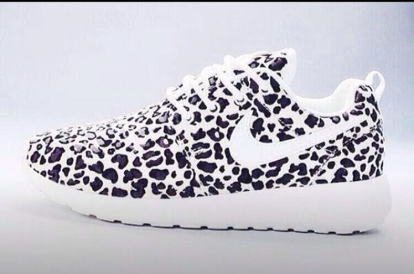 shoes cheetah black nike white