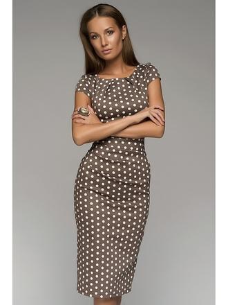 dress polka dots beige dress midi dress