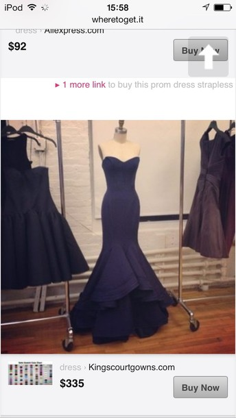 dress mermaid prom dress navy classy strapless dress blue dress navy black long mermaid style. prom.    dress light pink blue mermaid prom dress