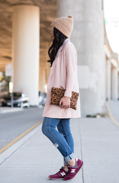 the fancy pants report,blogger,jacket,jeans,knitted beanie,pouch,nike sneakers,ripped jeans