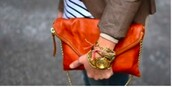 bag,clothes,leather bag,gold chain