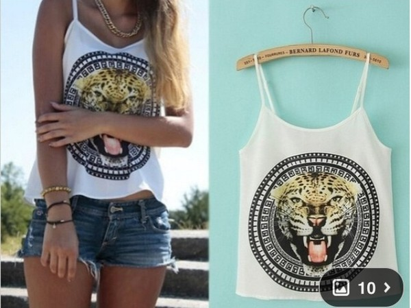 blouse top girl tiger greek sun t-shirt t-shirt
