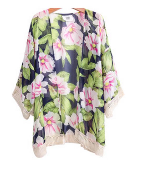 cardigan kimono floral kimono floral