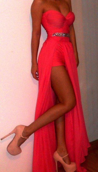 dress prom dress long dress coral dress pink dress long prom dresses strapless dress