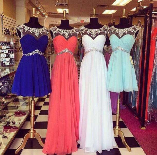 Dress blue dress white dress sparkly dress blue white flowers like follow mightylinksfo