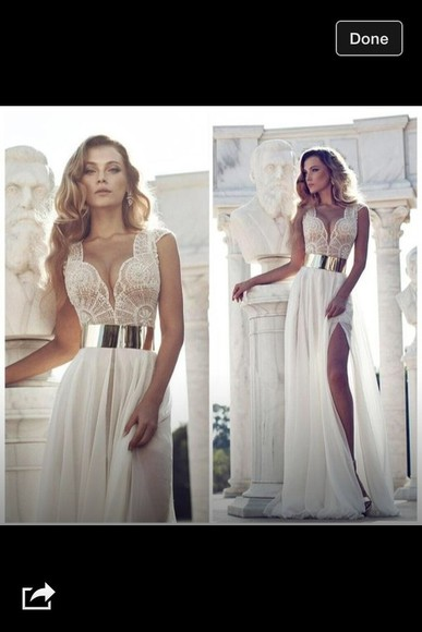 dress details prom dress ivory white low cut dress beautiful