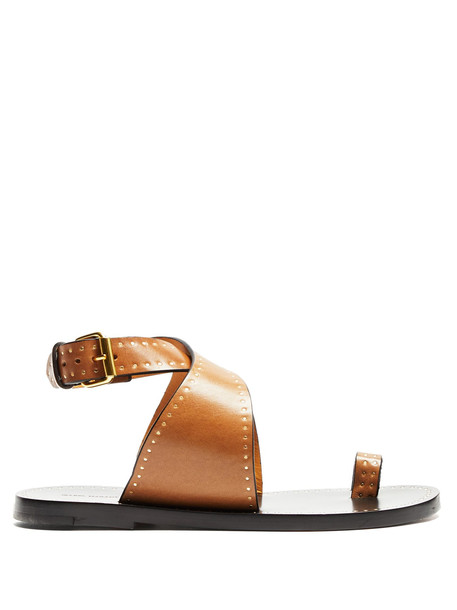 embellished sandals leather sandals leather tan shoes