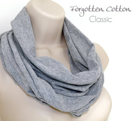 Weekly Special  Gray Infinity Scarf Jersey par ForgottenCotton