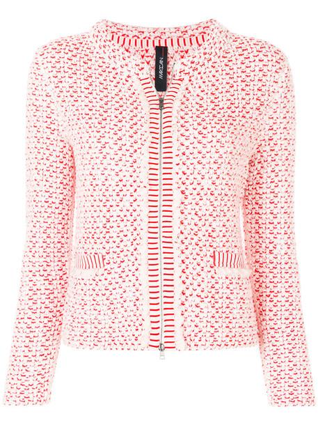 Marc Cain jacket short women cotton wool yellow orange