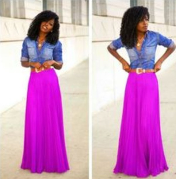 skirt maxi skirt purple