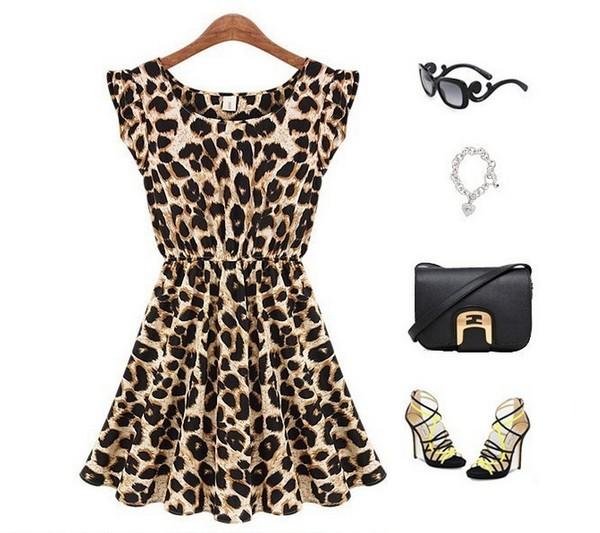 dress leopard print streetstyle streetstyle