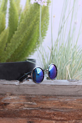 Mirrored Sunglasses (Gold & Iridescent) | Obsezz