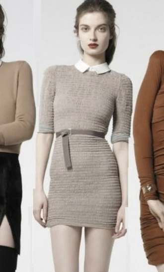 grey dress knit bodycon dress