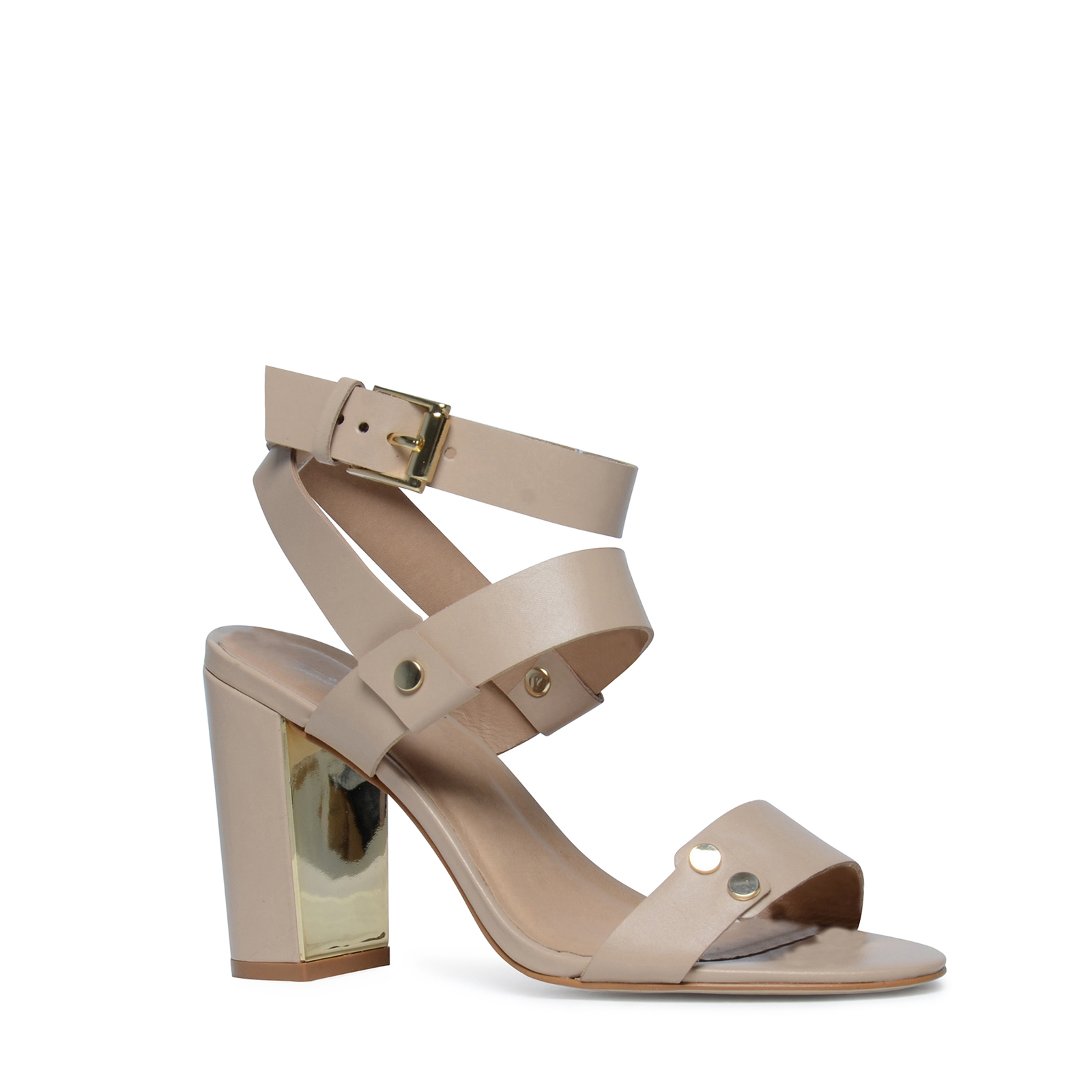 sandalen met hal