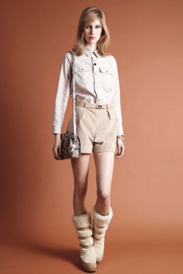 shoes apc fashion lookbook blouse bag