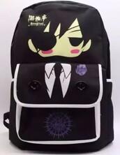 bag,kiroshitsuji,kiroshitsuji ii,anime,black butler,ciel phantomhive,ciel,backpack