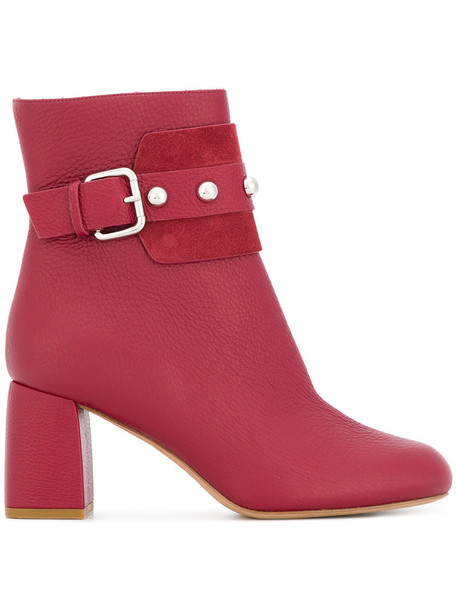 RED VALENTINO women leather red shoes