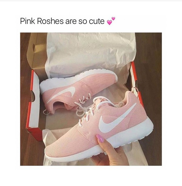 shoes pink roshes nike instagram timblr
