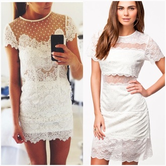 dress lace white white dress short dress mini dress mini dresses short dresses lace dress