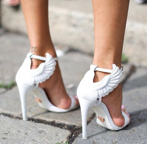 Shoes Angel Wing Heels Wheretoget