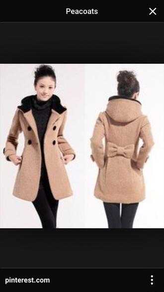 coat hood pea coat