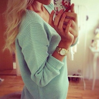 turquoise turquoise sweater