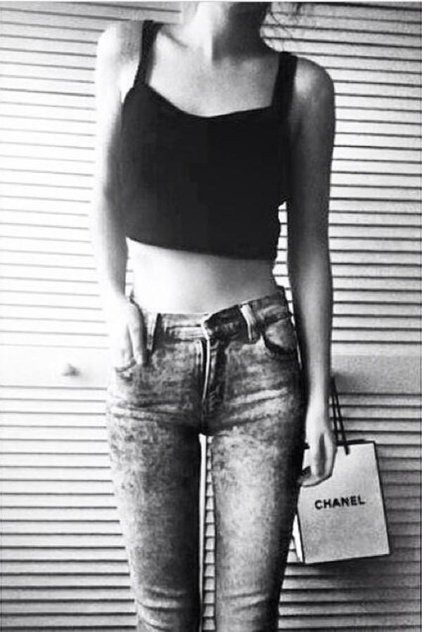 jeans t-shirt tank top
