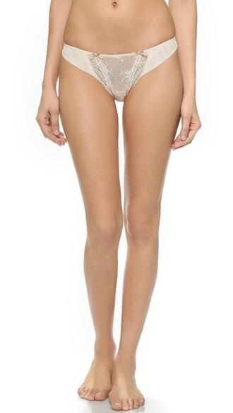 thong retro cream underwear
