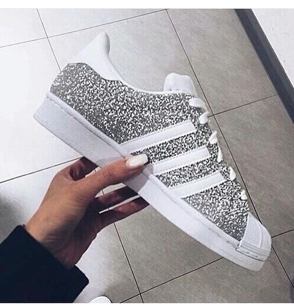 adidas superstar glitzer glitter bling silber wei 36 37 362 3. Black Bedroom Furniture Sets. Home Design Ideas