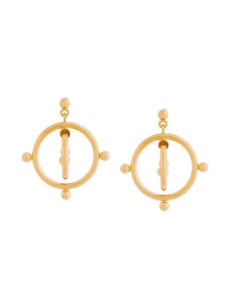 MARNI women earrings grey metallic jewels