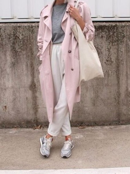 coat pastel pink spring spring outfits