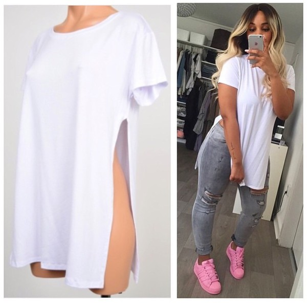 Shirt slit top slit dress top style beyonce slaying for How to whiten shirts
