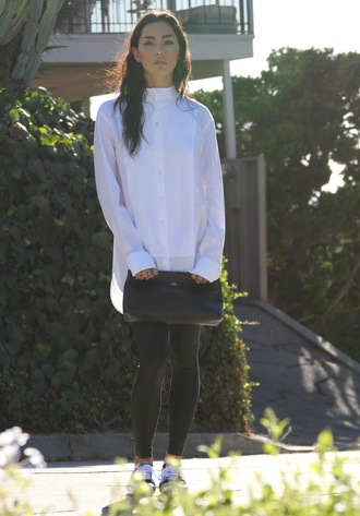 sweat the style blogger leggings shirt black and white pouch