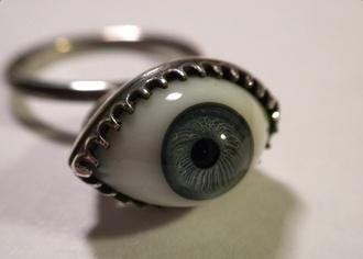 jewels ring eyeball eye tights