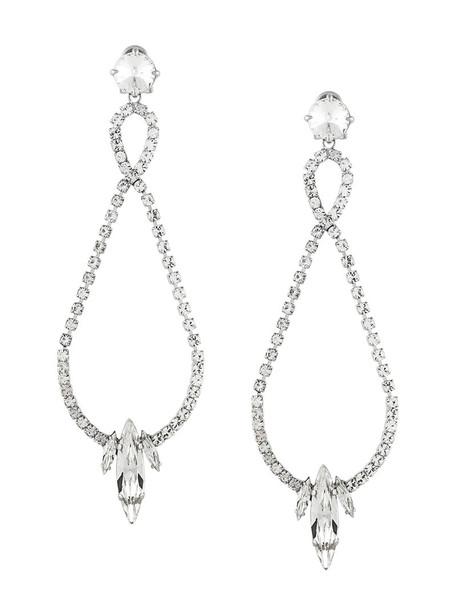 Miu Miu metal women embellished earrings grey metallic jewels