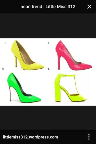 shoes neon heels