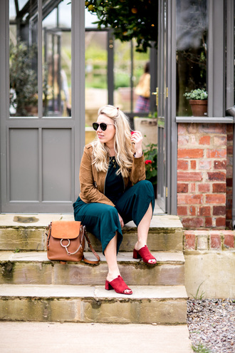 british fashion blog - mediamarmalade blogger jumpsuit jacket sunglasses