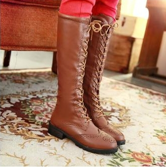 2014 Winter New Arrival Over The Knee High Women Boots Black Boot For Lady Winter Shoes Women's Low Flat Western Leather Shoe -in Boots from Shoes on Aliexpress.com