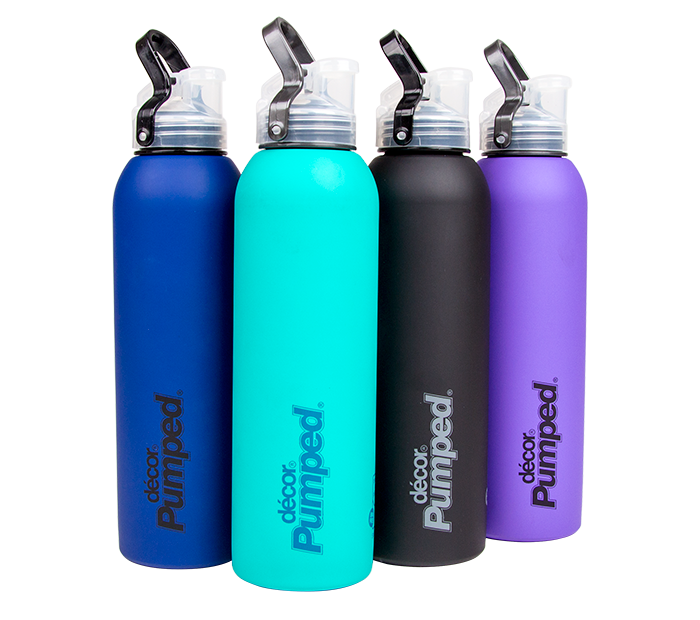 Decor Drink Bottles Unique Stainless Steel Soft Touch Bottle With Flipseal™ Lid 750Ml  Decor Decorating Design
