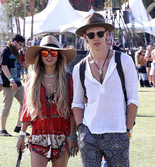 dress vanessa hudgens tribal pattern cochella