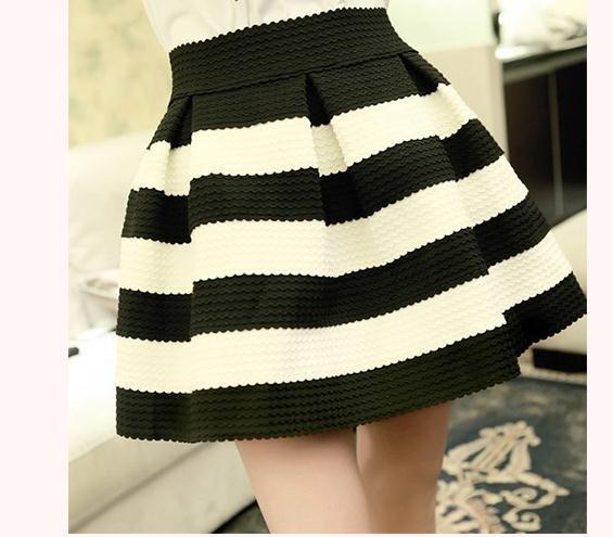 Cute grain high waist skirt