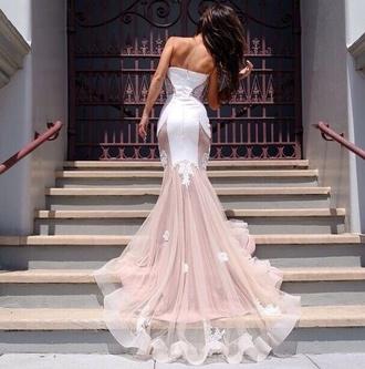 dress lace dress pink dress white dress prom dress evening dress nail polish