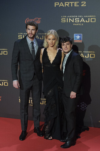 shoes sandals jennifer lawrence josh hutcherson liam hemsworth the hunger games black dress mens suit mens derby shoes mens tuxedo