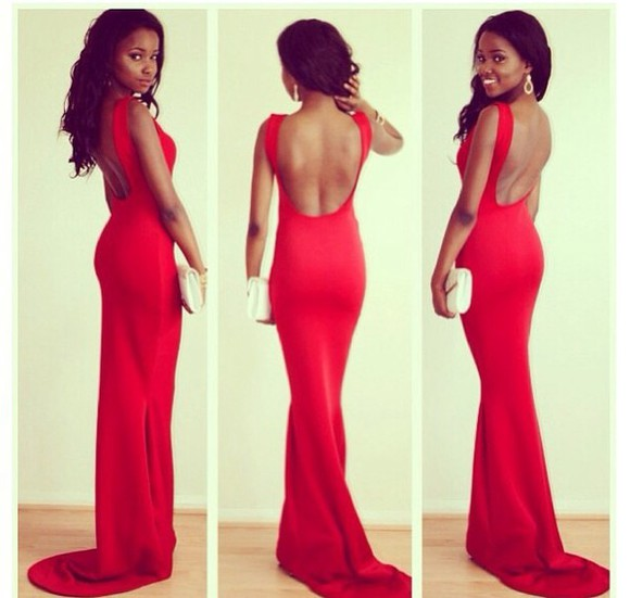 straps red dress backless prom dresses 2014 long prom dresses backless prom dress evening gown formal dresses slim fit