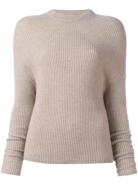 Rick Owens jumper women nude wool sweater