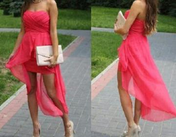 Lovely ans simple coral chiffon asy..