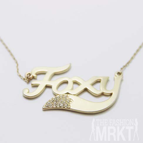 Wildfox Couture Foxy Gold Necklace / TheFashionMRKT