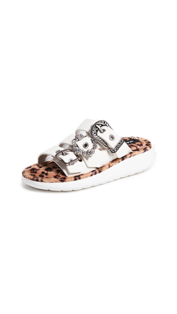 Marc Jacobs Emerson Buckle Sport Sandals in white / multi