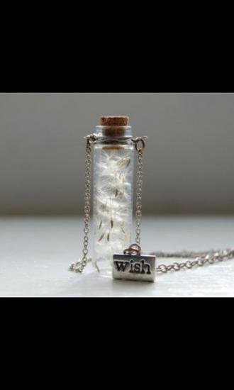 jewels bottle necklace necklace flower wish